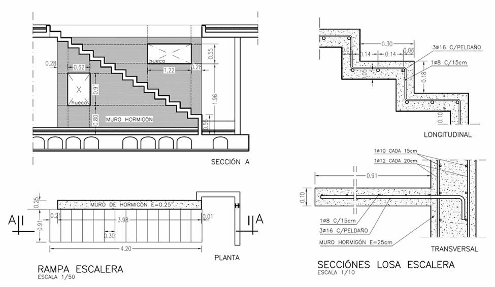 Construcci n de una escalera volada ad arquitectura for Construccion de escaleras de concreto armado