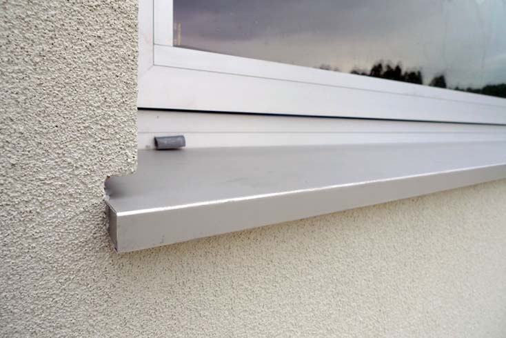Dise o constructivo encuentro vierteaguas con fachada - Precio perfiles de aluminio ...