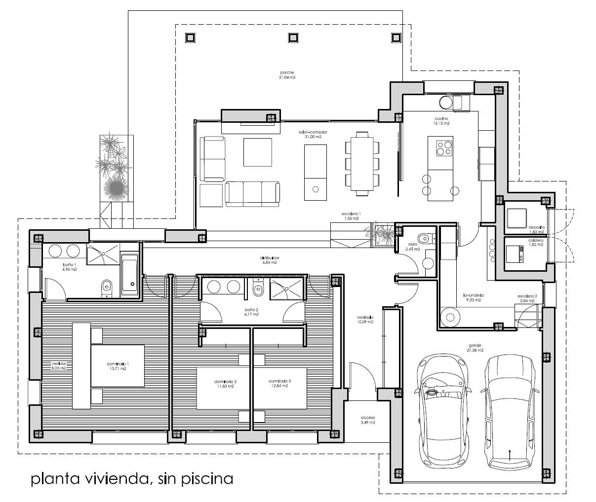 Piscina ad arquitectura for Planos de viviendas de una planta
