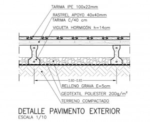 Detalle paviemento exterior madera - Pavimento madera exterior ...