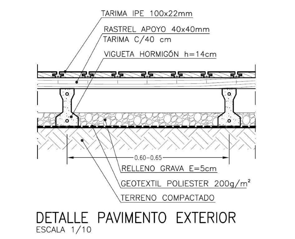 Pavimento de madera en exterior ad arquitectura - Cubierta sobre plots ...