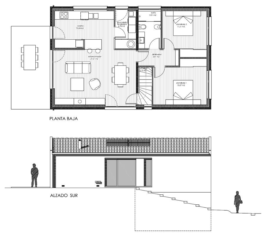 Ad arquitectura estudio de arquitectura en a coru a - Proyectos de viviendas unifamiliares ...