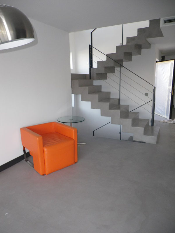 Pavimentos continuos hormig n pulido mortero for Pisos para escaleras de concreto
